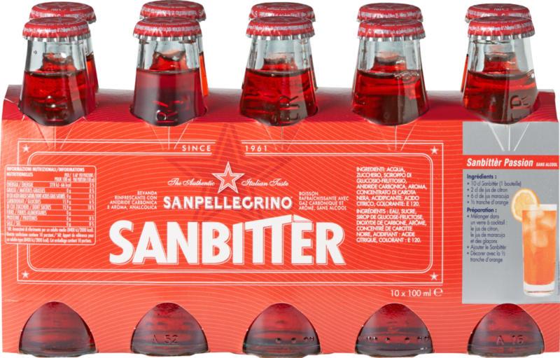 Sanbittèr, ohne Alkohol, 10 x 10 cl