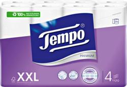 Papier hygiénique Premium blanc Tempo, 4 couches, 24 x 110 feuilles