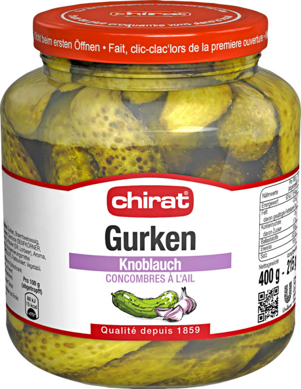 Chirat Gurken Knoblauch, 400 g