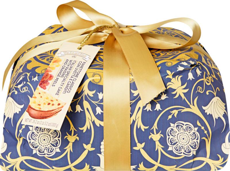 Panettone Classico Valentino , in carta da regalo, con uvetta e canditi, 1 kg