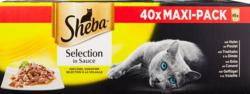 Cibo per gatti Sheba, Selezione in salsa, varietà di pollame, 40 x 85 g