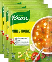 Minestre Knorr 4 porzioni, Minestrone, 3 x 81 g