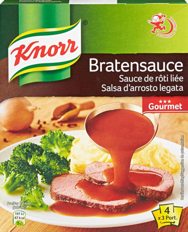 Sauce de rôti liée Knorr, Gourmet, 4 x 36 g