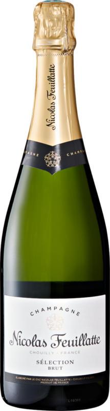 Nicolas Feuillatte Sélection brut Champagne AOC, Champagne, Frankreich, 75 cl