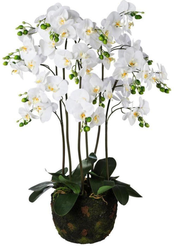 Kunstblume Orchidee H: 95 cm Weiß