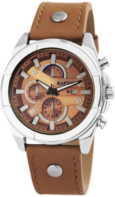 Raptor orologio da uomo con Chronolook marrone -