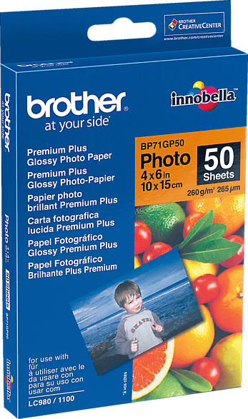 BROTHER BP 71 GP50 Fotopapier   A6 Brother BP 71 GP50 Fotopapier 10x15