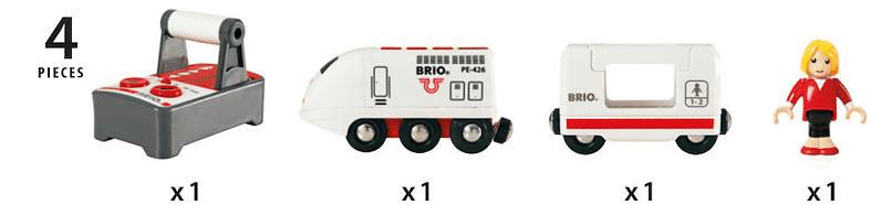 BRIO IR-Express Reisezug Eisenbahn, Mehrfarbig