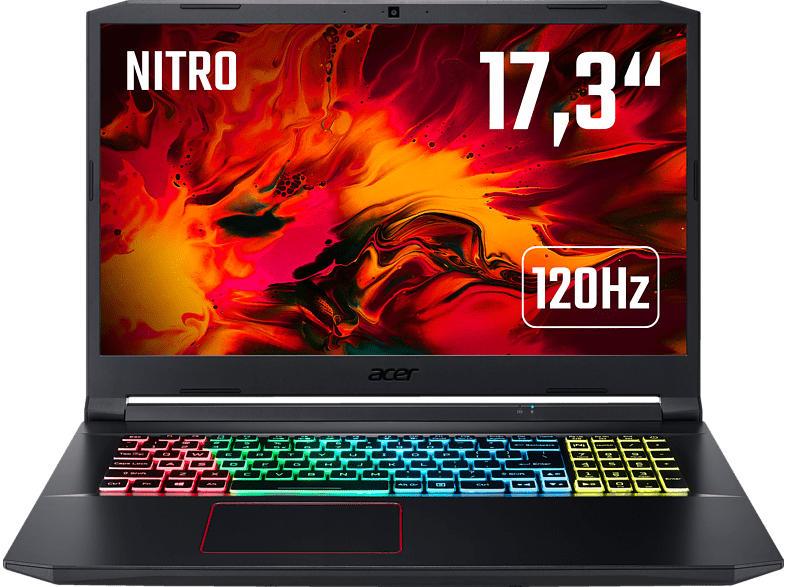 ACER Nitro 5 (AN517-52-71VP) 120 Hz Display & RGB Tastaturbeleuchtung, Gaming Notebook mit 17.3 Zoll Display, Core i7 Prozessor, 16 GB RAM, 512 GB SSD, GeForce RTX 2060, Schwarz/Rot