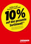 Denner 10%-Aktion - bis 09.01.2021