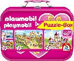 MediaMarkt SCHMIDT SPIELE (UE) Puzzle-Box Playmobil im Metallkoffer Puzzle, Mehrfarbig