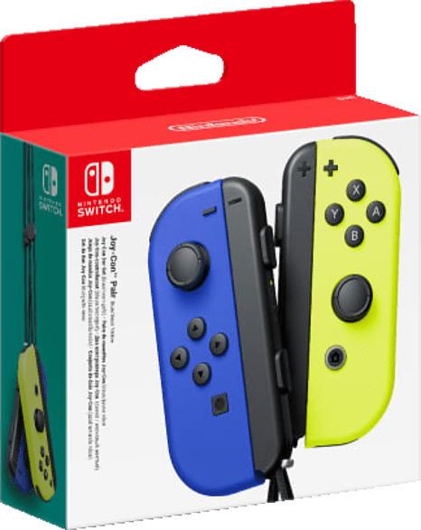 NINTENDO Switch Joy-Con 2er-Set Controller Controller, Blau/Neon-Gelb