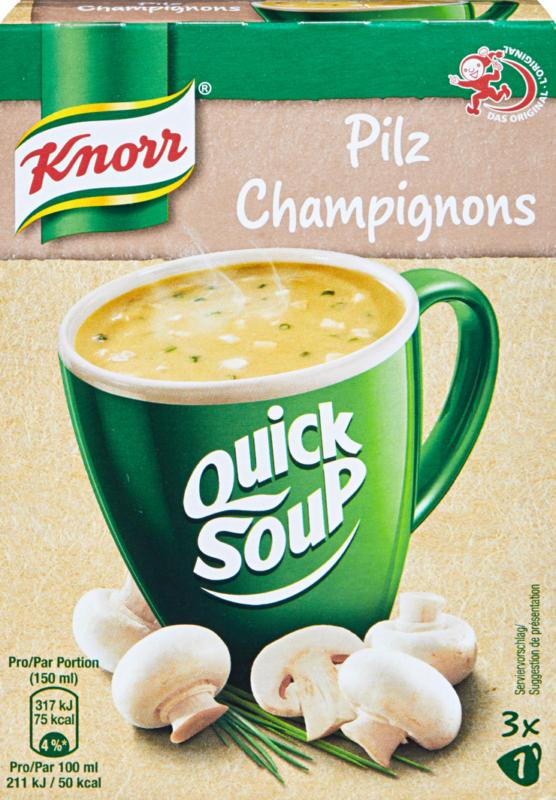 Quick Soup Pilz Knorr , 3 Portionen, 48 g