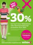 mömax Hirschaid - 30% bei Kauf eines Möbelstücks - bis 07.11.2020
