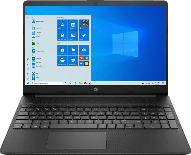 HP 15s-eq1351ng, Notebook mit 15.6 Zoll Display, AMD Ryzen 5 Prozessor, 8 GB RAM, 256 GB SSD, AMD Radeon Grafik, Schwarz