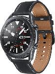 MediaMarkt SAMSUNG  Galaxy Watch 3 45 mm Bluetooth Smartwatch Edelstahl, Echtleder, Größe M/L (145 - 205 mm), Mystic Black/Black