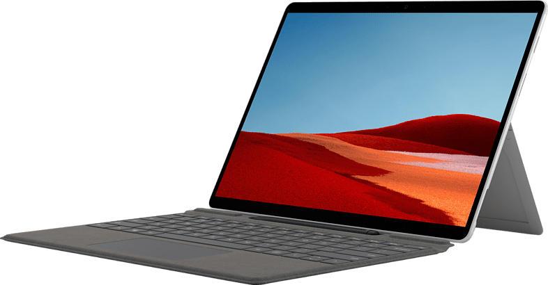 MICROSOFT Surface Pro X - Q2 16GB/256GB, Convertible mit 13 Zoll Display, SQ2™ Prozessor, 16 GB RAM, 256 GB SSD, Microsoft SQ2 Adreno™ 690, Platin