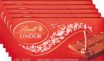 Denner Lindt Lindor Tafelschokolade Milch, 5 x 100 g - bis 07.12.2020