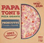 Denner Pizza gigante Prosciutto e Mozzarella Papa Toni's, 850 g - al 26.04.2021