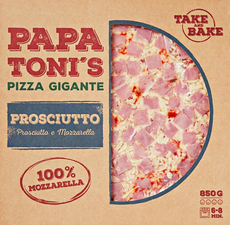 Papa Toni's Pizza Gigante Prosciutto e Mozzarella, 850 g
