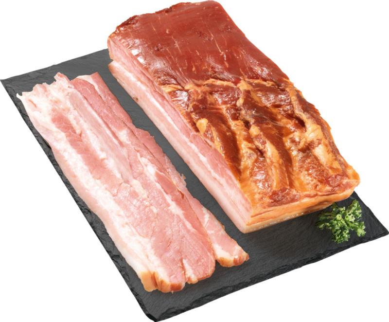 Lard à cuire Denner , fumé, Suisse, env. 800 g, le kg