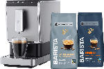 MediaMarkt TCHIBO 504964 Esperto Caffè, Kaffeevollautomat, Schwarz/Silber inkl. 2kg BARISTA Kaffeebohnen