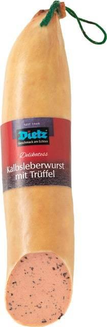 Gourmet Kalbsleberwurst mit Trüffeln