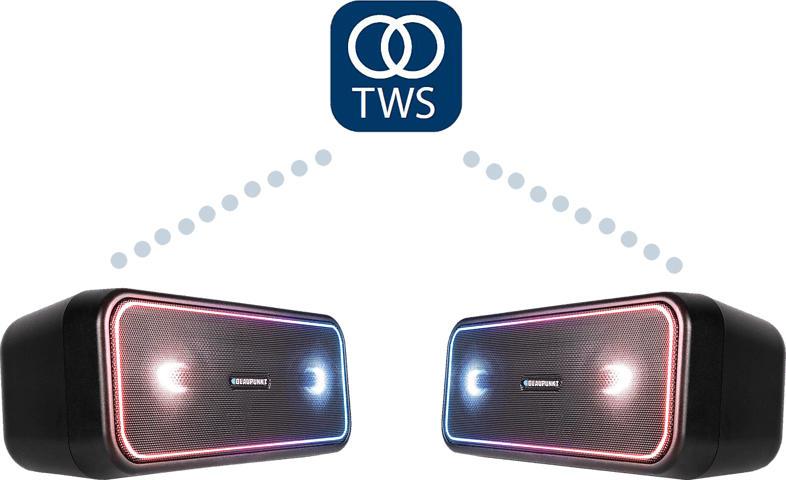 BLAUPUNKT PS 200  Twin Set Bluetooth Lautsprecher Schwarz