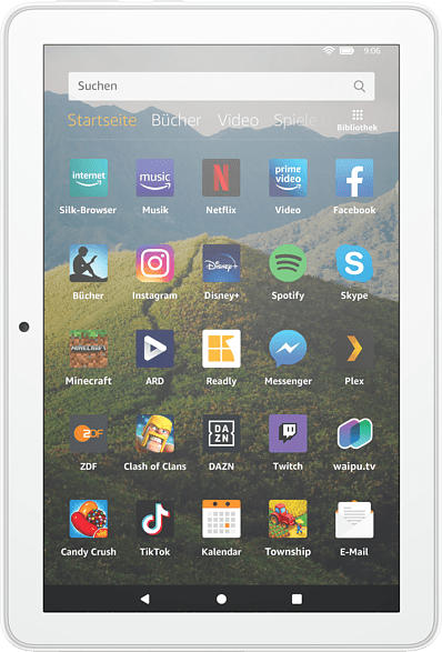 AMAZON Fire HD 8-Tablet, 8-Zoll-HD-Display, 32 GB, Weiß mit Spezialangeboten, Tablet , 32 GB, 8 Zoll, Weiß