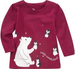 Baby Langarmshirt mit winterlichem Motiv