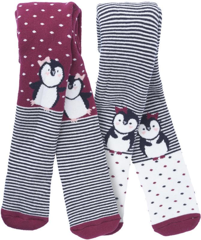 2 Baby Strumpfhosen mit Pinguin-Motiv (Nur online)