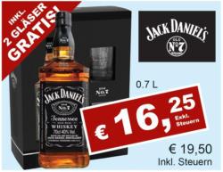 Jack Daniel's inkl. 2 Gläser Gratis