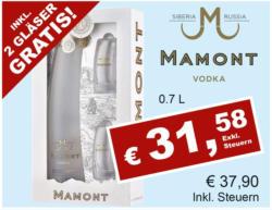Mamont Vodka inkl. 2 Gläser Gratis