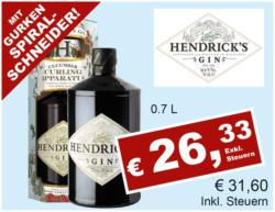 Hendricks Gin inkl. Teetasse