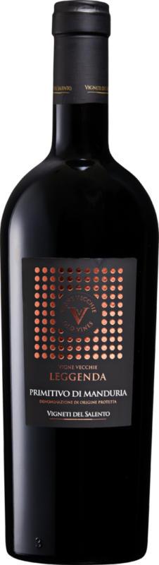 Vigne Vecchie Leggenda Primitivo di Manduria DOP, 2018, Puglia, Italia, 75 cl