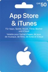 iTunes-Geschenkkarte im Wert von CHF 50.-, 10% auf ausgewählte iTunes-Geschenkkarten!