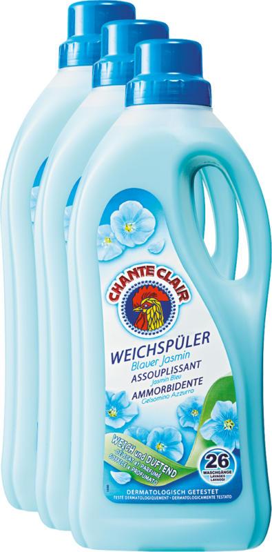 Ammorbidente Chanteclair, Gelsomino Azzurro, 3 x 26 cicli di lavaggio, 3 x 1,56 litri