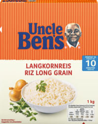 Riso a chicco lungo Uncle Ben's, 1 kg