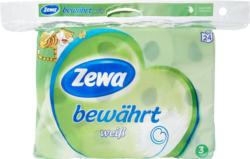 Zewa bewährt Toilettenpapier Weiss, 3-lagig, 24 x 150 Blatt