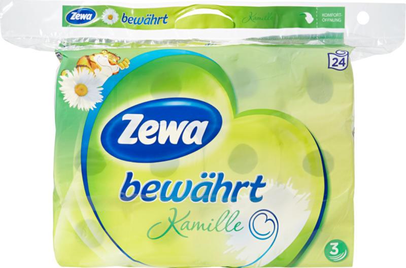 Papier hygiénique Camomille Zewa bewährt, 3 couches, 24 x 150 feuilles