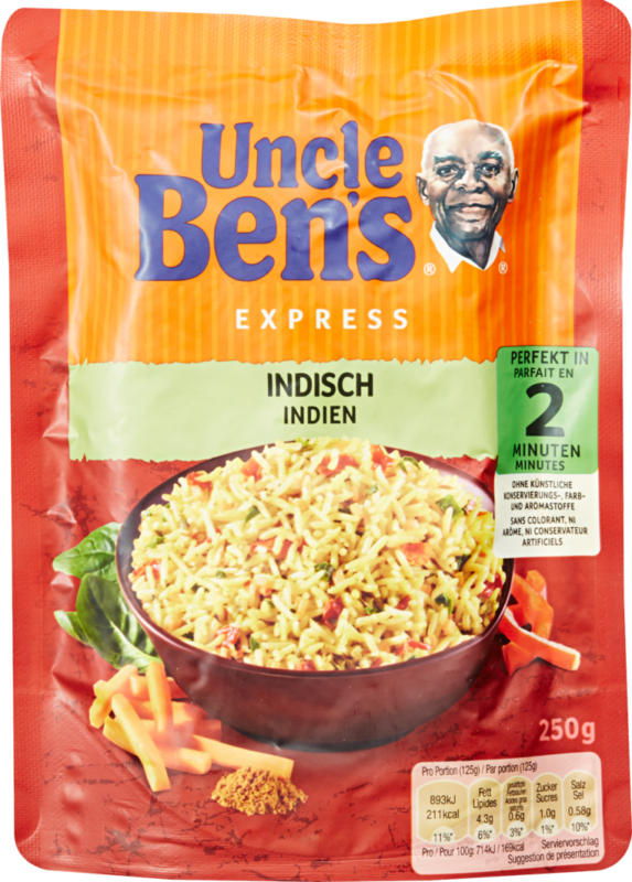Riso Express Uncle Ben's, Indiano, 250 g
