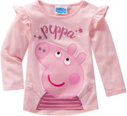 Peppa Pig Langarmshirt mit Rüschen