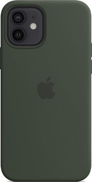 Silikon Case mit MagSafe in Zyperngrün für iPhone 12/12 Pro (MHL33ZM/A)