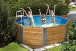 HELLWEG Baumarkt Massivholzpool 310x310 cm, inkl. Leiter & Filter Bausatz Pool, Übersteigleiter, Filteranlage