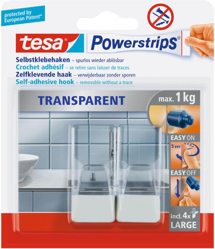 """""""Powerstrips"""", transparent, weiss"""