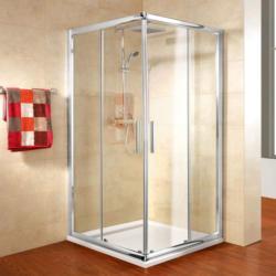"""Eckeinstieg """"Kristal Trend"""" inkl. Duschwanne, 90x90 cm 90 cm"""