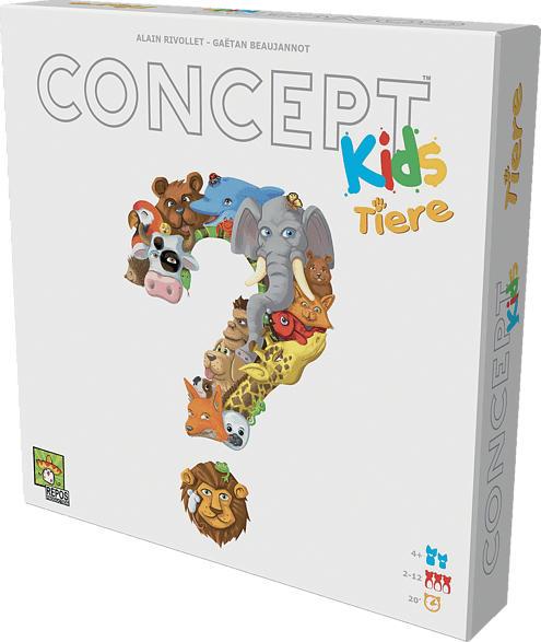 REPOS PRODUCTION Concept Kids - Tiere Gesellschaftsspiel, Mehrfarbig