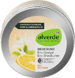 alverde NATURKOSMETIK Deocreme Bio-Orange Bio-Sheabutter