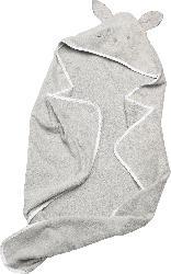 PUSBLU Baby Badeponcho, in Bio-Baumwolle, grau