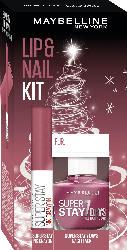 Maybelline New York Geschenkset Lippenstift Super Stay Ink Crayon 25 + Nagellack Superstay 7 Days 255 - mit Preisvorteil